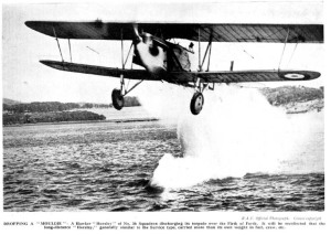 Hawker Horsley dropping torpedo in the Forth 1929