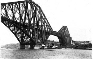 Supermarine Southampton taking off under the Forth Bridge